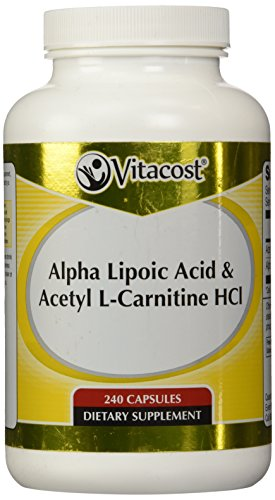 Vitacost Alpha Lipoic Acid   Acetyl L Carnitine Hcl    1 600 Mg Per Serving   240 Capsules