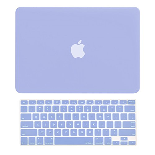 TOP CASE - 2 in 1 Bundle Deal Rubberized Hard Case and Keyboard Cover Compatible with Apple Old Generation MacBook Pro 13-Inch (13 Diagonally) with CD-ROM/DVD Drive A1278 - Serenity Blue