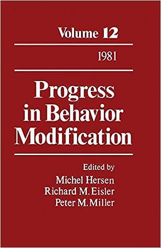 Progress in Behavior Modification: Volume 12: v. 12