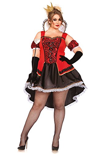 Leg Avenue Women's Plus-Size Royally Sexy Queen Costume, Red/Black, 3X