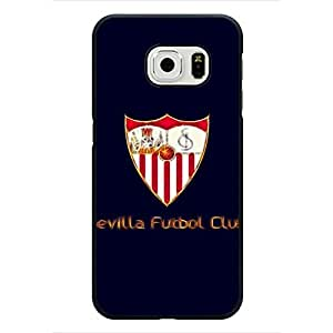Samsung Galaxy S6 Edge Case,Sevilla F¨²tbol Club Logo Protective Phone Case Black Hard Plastic Case Cover For Samsung Galaxy S6 Edge