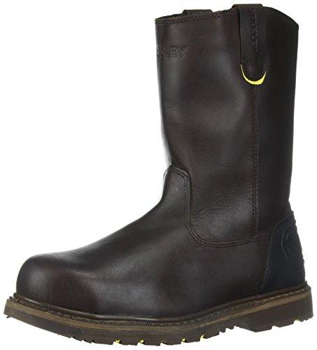 Steel Toe Mens Boots (Stanley Men's Dropper 2.0 Steel Toe Industrial and Construction Shoe, Brown, 13 M US)
