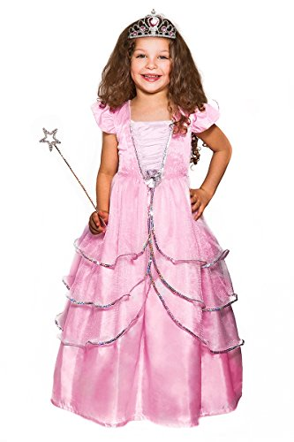 Crystal Pink Princess Costume 3 Piece Set (age 3-5 years) by Fairies Galore (Pink Velvet Princess Costume)