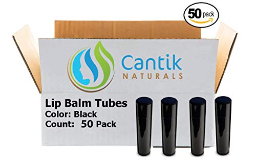 Gloss Lip Made (Lip Balm Containers, 50 Black Chapstick Tubes, BPA Free, Make Your Own Lip Gloss - 0.15oz, Made In the USA)