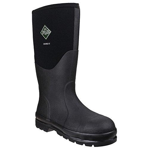 Muck Boots Chore Classic - Stivali Wellington di Sicurezza - Unisex (39/40 EU) (Nero)