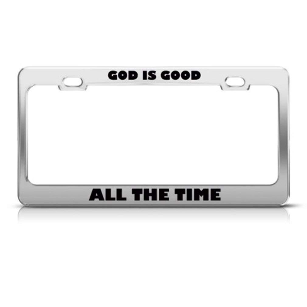 GOD IS GOOD Metal License Plate Frame Tag Holder