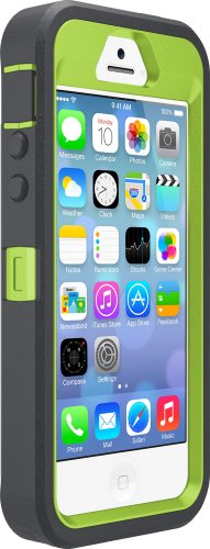 OtterBox DEFENDER SERIES Case for iPhone 5/5s/SE - Retail Packaging - KEY LIME (GLOW GREEN/SLATE GREY) (Apple Lime)