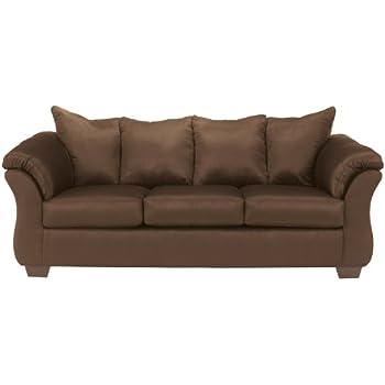 Ashley Furniture Signature Design   Darcy Contemporary Microfiber Sofa    Café