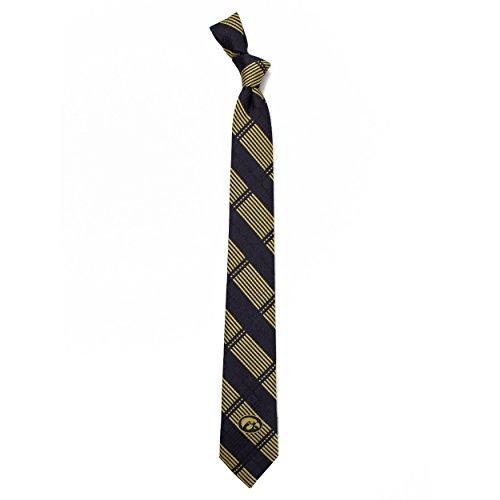 University of Iowa Skinny Plaid Tie