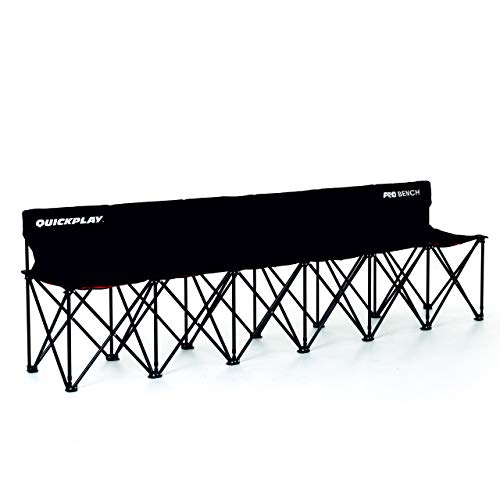 QuickPlay PRO Folding Bench - 6 Seats - New 2019 Model - Build to Last Sideline Bench, Soccer Bench, or Sports Team Bench ()