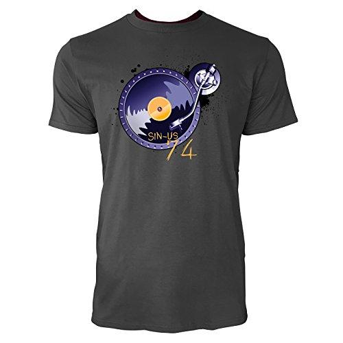 SINUS ART ® Plattenteller mit Splashes Herren T-Shirts in Smoke Fun Shirt mit tollen Aufdruck