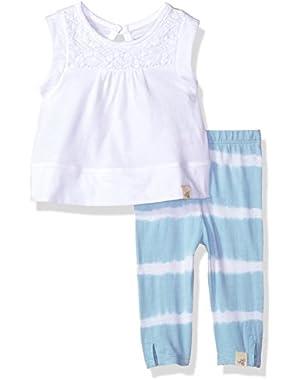 Baby Girls' Organic Sleeveless Tee and Capri Legging