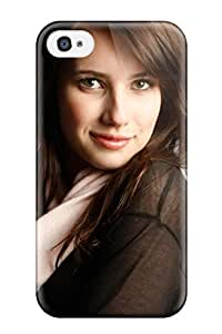 sandra hedges Stern's Shop Best 6104058K42888736 Rugged Skin Case Cover For Iphone 4/4s- Eco-friendly Packaging(emma Roberts?wallpaper)