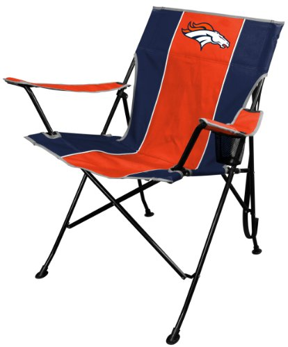Rawlings NFL Portable Folding Tailgate Chair with Cup Holder and Carrying (Denver Broncos Gear)