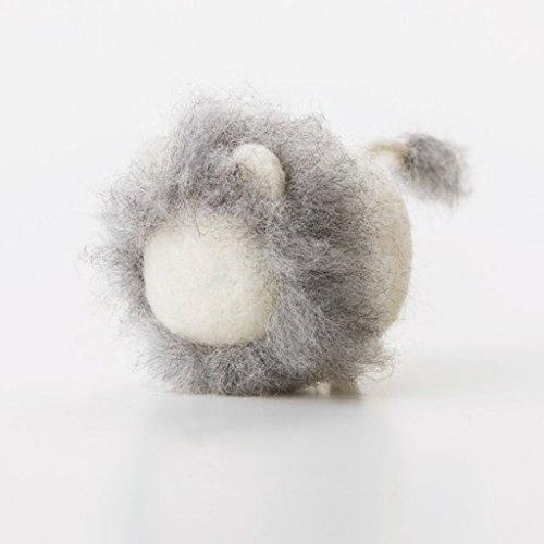 Truslin - DIY Needle Felting Kit with Gift Box DIY Toys Faceless Animal - White Lion