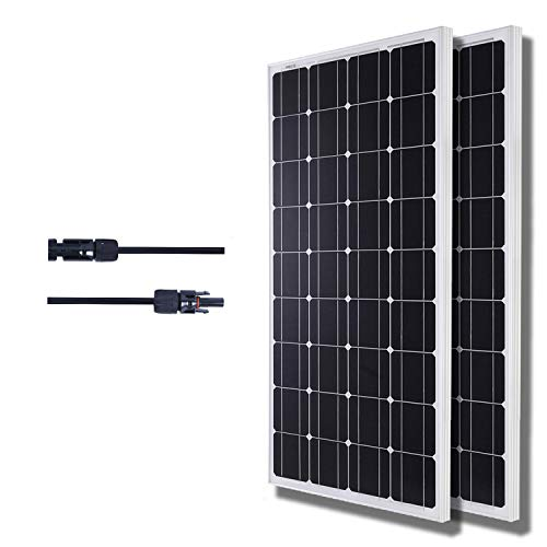 KOMAES SOLAR 200W Monocrystalline Solar Panel 12V Charger With MC4 Connector for deep cycle battery, Perfect for Residential, Industrial, RV, Boat, Camping, Off Grid Installation Review