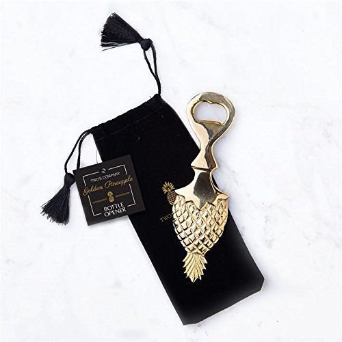 Two s Company 51518 Golden Pineapple Bottle Opener in Gift Pouch-Brass 372b5d3de