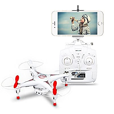 DBPOWER Hawkeye-II CX-30W FPV Wifi G-sensor Control Quadcopter 4CH 6 Axis RC Drone with 0.3MP Camera for IOS Android