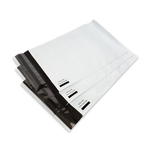 PACKZON Poly Mailers Shipping Envelopes Bags Self Sealing White 2 mil (6 x 9, 1000)
