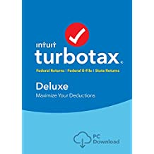 TurboTax Deluxe Tax Software 2017 Fed + Efile + State PC Download [Amazon Exclusive]