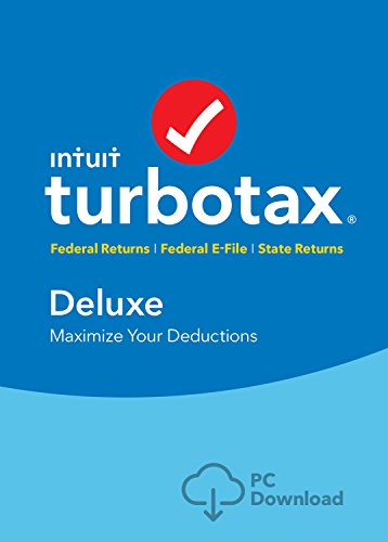 Software : TurboTax Deluxe + State 2018 Fed Efile PC Download [Amazon Exclusive]