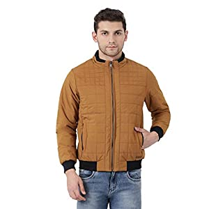 Monte Carlo Mustard Solid Polyester Polo Collar Jacket