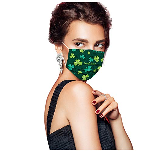 St. Patrick's Day disposable face masks