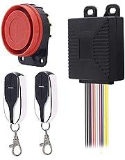 ShinePick Alarma Moto con Mando, Sistema de Alarma Antirrobo Alarma 125db para Motocicletas de 12V