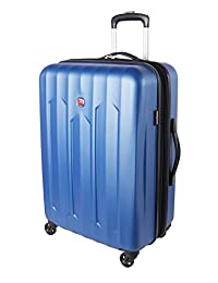 Swiss Gear Chrome Medium Luggage - Hardside Expandable Spinner Luggage 24-Inch, Blue
