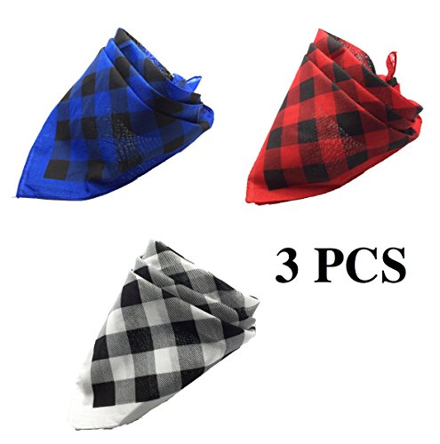 41uNVIXI0pL - FUNPET 3 Pcs Dog Bandana Bibs Scarfs Accessories for Medium and Large Pet Dogs