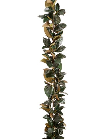 82'' Magnolia Leaf Garland Green (pack of 2) by Arcadia Silk Plantation