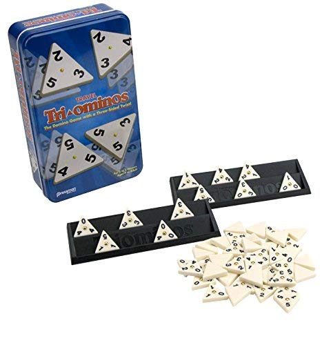 - Tri-Ominos Tin The Classic Triangular Domino Game by Pressman Toy