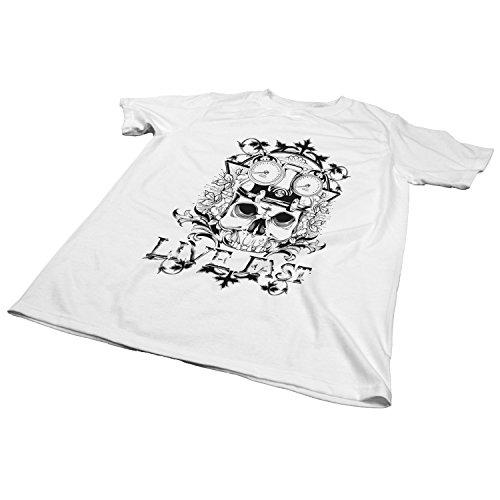 ZDesign Live Fast | Lebe schnell | Biker | T-Shirt | Größe XS-4XL | Ideales Geschenk