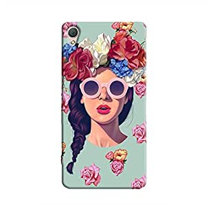 Cover It Up Flower Head Hard Case for Xperia M4 - Multi Color