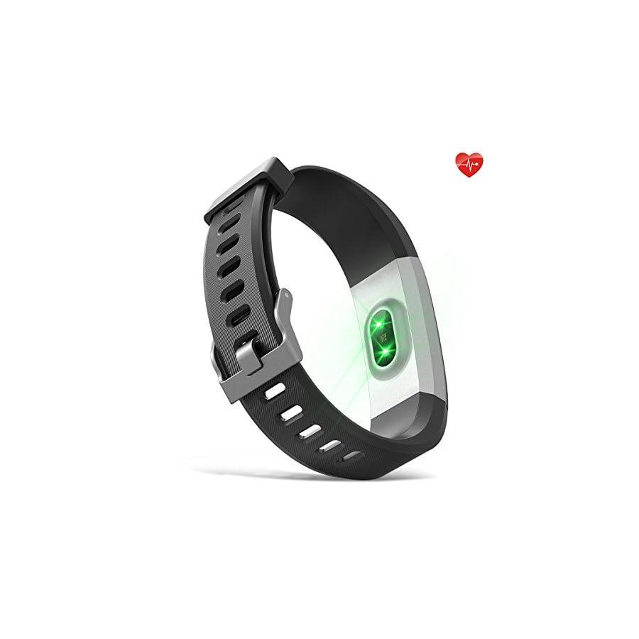 moreFit Fitness Tracker, Slim HR Plus Heart Rate Smart Bracelet Pedometer Wearable Waterproof Activity Tracker Watch