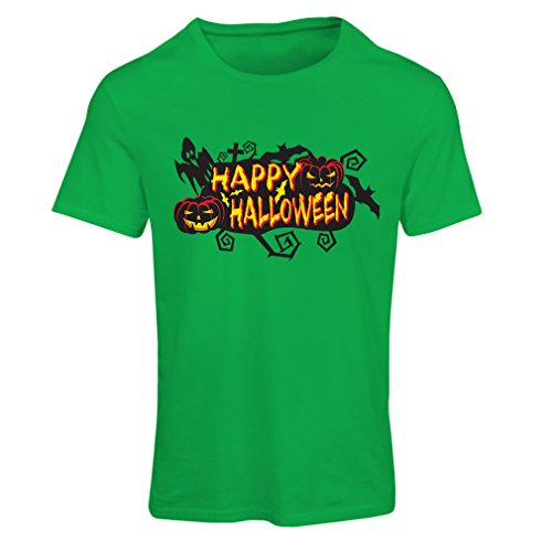 T Shirts for Women Owls, Bats, Ghosts, Pumpkins - Halloween Outfit Full of Spookiness (XX-Large Green Multi Color)