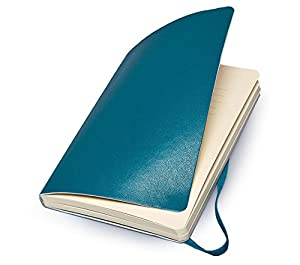 Moleskine Classic Colored Notebook, Large, Plain, Underwater Blue, Soft Cover (5 x 8.25)