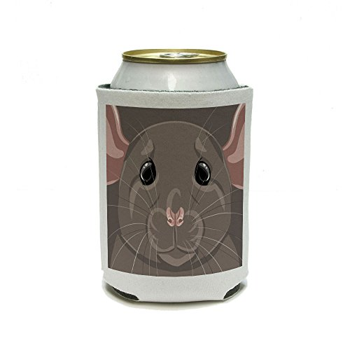 Dumbo Rat - Pet Mouse Rodent Can Cooler - Drink Insulator - Beverage Insulated (Dumbo Rat)