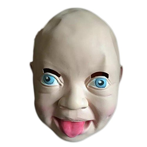 Uspeedy Zombie Mask Head Mask Horror Mask for Halloween Costume Party (2 9 Baby)