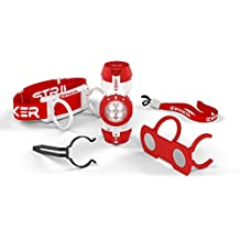 Striker Hand Tools 00235 4 in 1 Task Light with Headlamp, Hands-Free Magnetic Mount and Tactical Led Flashlight, White and Red
