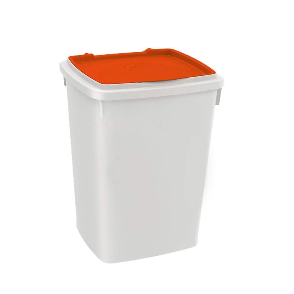 orange 33x28.7x42.5cm orange 33x28.7x42.5cm Ping Bu Qing Yun Dog Food Barrel Sealed Moisture cat Food Barrel Dog Food Box Storage Grain Barrel pet Grain Barrel 3 colors, 3 Sizes Pet Food Container (color   orange, Size   33x28.7x42.5cm)