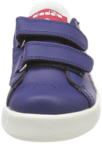 Diadora Game P PS, Zapatillas de Gimnasia Para Niños Azul (Blu Estate Rosso Carmine)