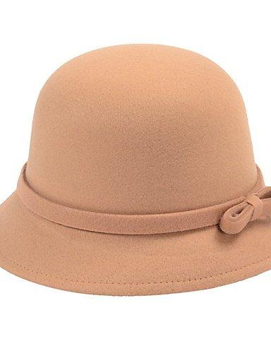 Winter Hat Pure Dome Autumn Fisherman Wool Bowknot Basin Color Cap ONESIZE Caps GSM BLACK Women 8wPYXqxzn7