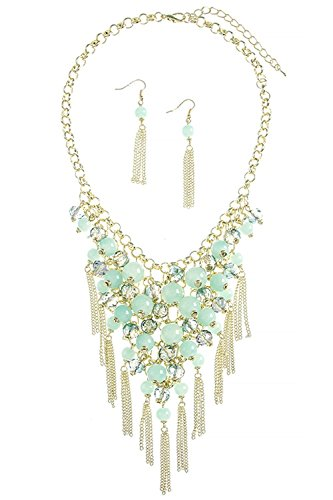 KARMAS CANVAS TASSLE ACCENT BALL BEADED NECKLACE SET - Where Dior To Buy
