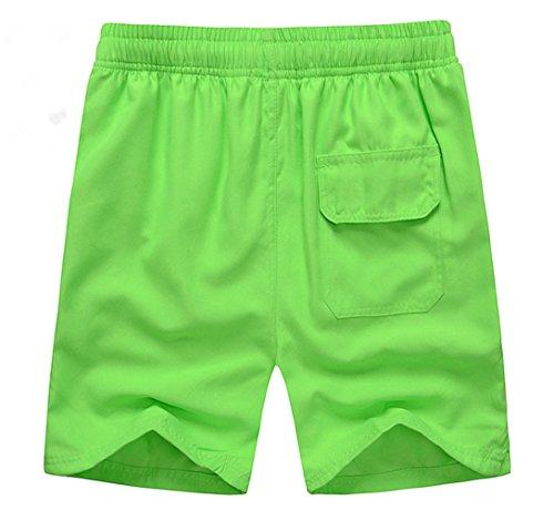 Haodasi Unisex Quick Dry Sports Jogging Beach Shorts Strand Shorts Swim Shorts Swimwear Bademode Boardshorts Color Light Green Size XXL