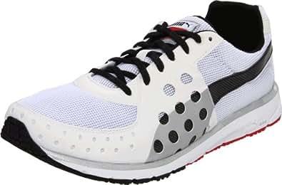 PUMA Unisex Faas 300 Sneaker, White/Black/High Risk Red, 7.5 D(M) US Men's/9 B US Women's
