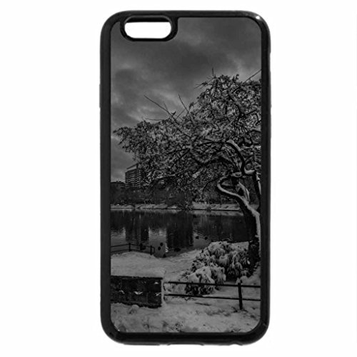 iPhone 6S Plus Case, iPhone 6 Plus Case (Black & White) - winter evening at stavanger norway hdr