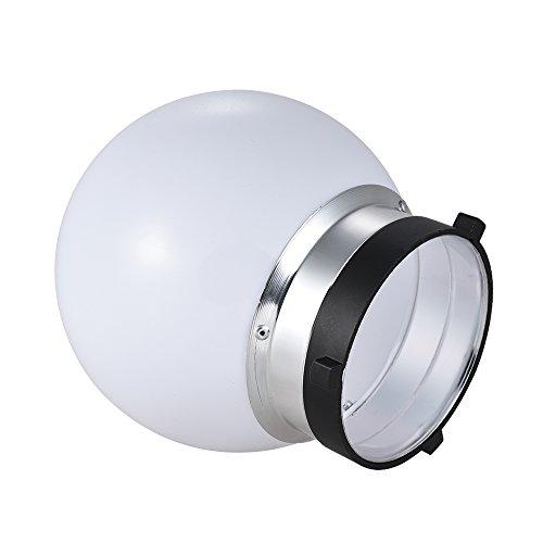 6'' Spherical Diffuser Soft Ball for Bowens Mount Monolight Studio Strobe Flash Light by Qintec (Image #2)