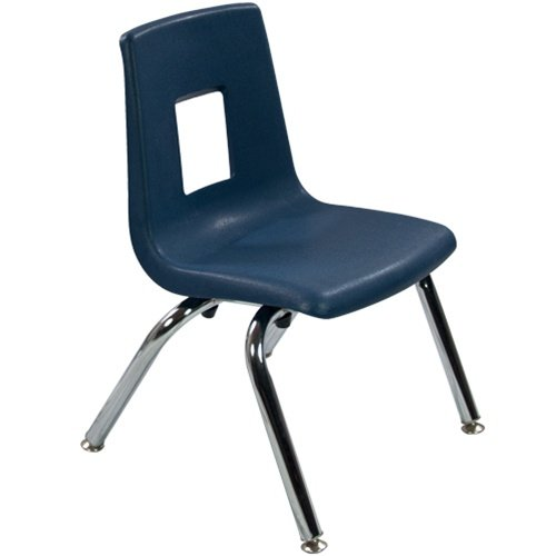 12'' Navy Stackable School Chair (4 pack) by Advantage