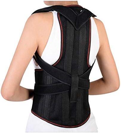 背もたれ矯正用女性用調節式肩脊椎サポート鎖骨装具用矯正用アッパーバック用ブレース矯正用アッパーバック、ブラック (Size : XL)